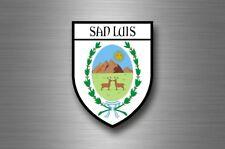 sticker adesivi adesivo stemma etichetta bandiera citta argentina san luis