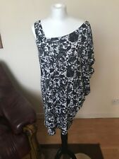 Dorothy Perkins Ladies Top, Blouse, Short Sleeve, Black and White, Size 12