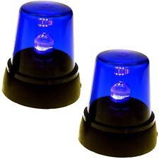 2x LED PARTY BLAULICHT SIGNAL RUNDUMLEUCHTE WARN LEUCHTE LAMPE PARTYLICHT BLAU