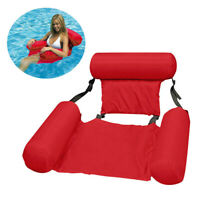 Swimming Portable Pool Toy Hammock Lounge Inflatable Water Floating Bed Chair###