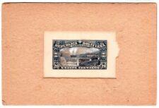 1925 Bolivia Proof on Light Brown Card - Veinte Centavos - Railroad - Very Scare
