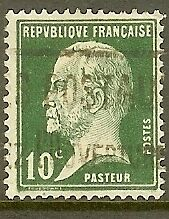 """FRANCE TIMBRE STAMP N°170 """"TYPE PASTEUR, 10 C VERT"""" OBLITERE TB"""