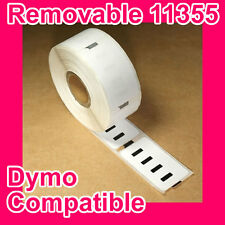 100 Rolls of Premium Removable Label for DYMO Printer (Equivalent to SD11355)