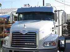 """Mack CH and Mack Vision 13"""" Drop Visor Polished Stainless Steel Fits All Years"""