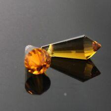 4pcs 8x20mm Swaro/vski cone-shape crystal beads B dark-Amber