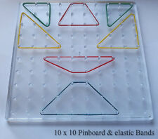 10 x 10 Clear / Translucent Pin board & Elastic Band Set Learning Resources