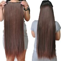 One Piece Clip In Remy 100% Human Hair Extensions Hair Pieces All Colors 120G