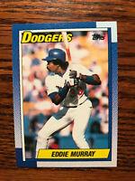 1990 Topps #305 Eddie Murray Baseball Card Los Angeles LA Dodgers HOF Raw