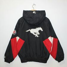 Vintage Calgary Stampeder Starter CFL 1/4 Zip Insulated Jacket Size Small