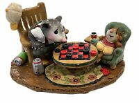 "Wee Forest Folk: ""Checker Chums"" Mole, Mouse, Collectible, M-273"