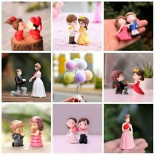 Romantic Lovers Couple Figurine Wedding Miniatures Bride Groom Valentine Gift