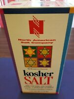 (ONE BOX) KOSHER SALT 3 POUNDS FOR KOSHER AND GOURMET COOKING RECLOSABLE SPOUT