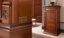 Luxus Hochkommode  Ducale Kirschbaum Furnier Holz Stilvoll  aus Italien