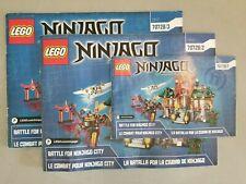 Lego Ninjago 70728 Battle for Ninjago City Temple ~ 3 Minifigs ~ Free Shipping