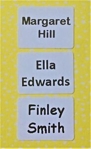 Personalised Waterproof Stick On Name Labels for Clothing/ School Name Tags