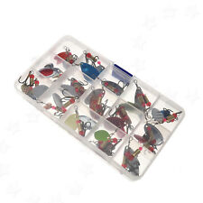 30X Metal Multi Spinners Fishing Lure Salmon Baits Bass Trout Fish Hard Hook Set
