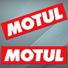 2 Vinyl Stickers Decal Auto Moto Sport Motul Oils Racing Car Bike Rally Kawasaki