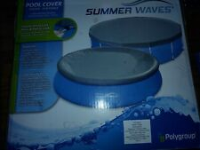 Summer Waves Round Pool Cover 8-10ft  Ring or Metal Frame Pool - Pool Cover ONLY