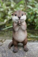 NEW Baby Otter Praying Adorable Cute Figurine - Statue Home / Garden