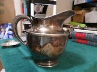 """Antique Hartford Sterling Company Electro Plate HSCEP Pitcher 7.5"""" Tall"""