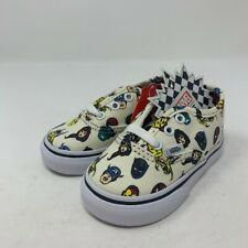 Vans Authentic Marvel Heads Toddler Size 5.5 Sneakers Beige Lace Up Heroes New