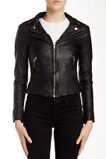 Muubaa Presley Black Leather Biker Jacket Size Small US 2 UK 6 $465