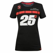 Maverick Vinales 25 Moto GP Panel Women's T-shirt Black Official New