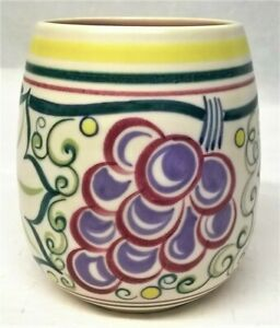 POOLE POTTERY TRUDA ADAMS TRADITIONAL TR GRAPES PATTERN POT - GWEN HASKINS