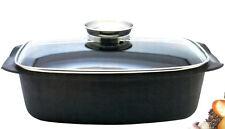 meine Küche elo Universal Bräter mit Glasdeckel 40 x 22 cm mit Aromaknopf 4,6 L