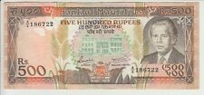 MAURITIUS BANKNOTE P#40b-6722 500 RUPEES PREFIX A/6 EXTREMELY FINE USA SELLER
