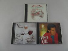 Lot of 3 Country Music Christmas CD's  Dolly Parton Vince Gill  The 90's   X-Mas