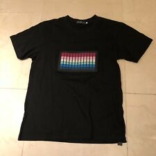 Flashwear T-Qualizer Light Up to Music Equalizer T-Shirt Mens Size Small
