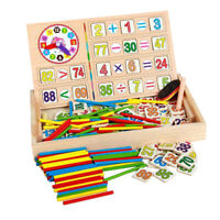 Colourful Kids Wooden Teaching Math Counting Educational Toy Board Box