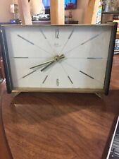 Antique Schatz & Suhne Art Deco Mantle Shelf Clock Battery Made In Germany Works