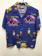 PARADISE FOUND FORD DEUCE COUPE  HAWAII 100% RAYON MEN SHIRT SMALL EXCELLENT !!!