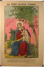 Epinal,bois rehaussé de F.Georgin La très Sainte Vierge