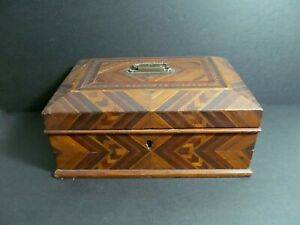 Antique Victorian marquetry box