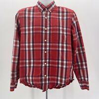 J. Crew Factory Slim Fit Red Blue & White Plaid Button Shirt Men's Size Medium