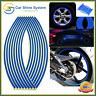 "Motorbike Car Reflective Wheel Rim Trim Tape Sticker Up to 18"" Blue Pack of 16"