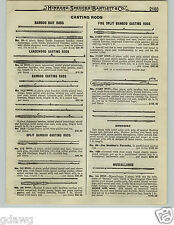 1919 PAPER AD Jim Heddon Favorite Split Bamboo Fishing Rod Dowagiac Muscallonge