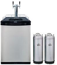 72 HOUR SALE Mangrove Jacks Twin Tap Kegerator 2 Kegs Beer Fridge home brew