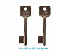Ross R30 Safe Key Blanks PAIR - Safe - Lock - Key blanks - Gun Safe - Keys