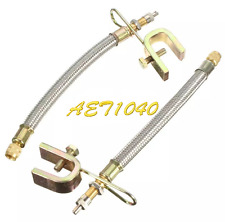 """2xPCS 7"""" Braided Stainless Steel Dual Tire Valve Stem Extension Truck RV Trailer"""