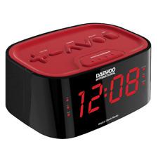 Radio Reloj Despertador Daewoo DCR-45 Rojo Fm 20 Presintonias
