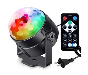 Disco Party Lights DJ Lighting RBG Ball Strobe Lamp with Remote