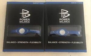 2x Power Balance Bracelet Wrist Size Small BLUE (17.5cm) - NEW