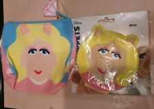 Muppets miss piggy Make Up Bag And Mirror with packages on both