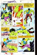 Original 1979 Marvel Comics Incredible Hulk 235 color guide art page:Marvelmania