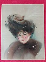 Lithographie 1909 proche MAUD STUMM/VEUVE signé L Noefel a determiner