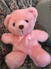 "Rare HTF by FLOWERS INC BALLOONS 9"" Sit Pink TEDDY BEAR Plush Stuffed Animal #C2"